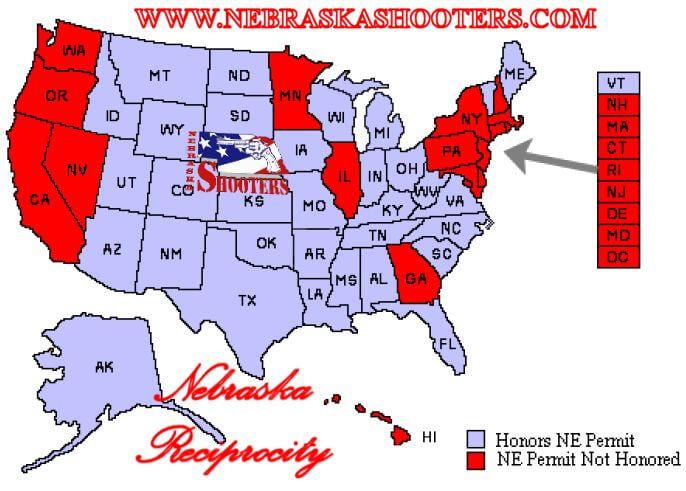kansas ccw reciprocity map Reciprocity Nebraska Shooters kansas ccw reciprocity map